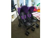 O baby double pushchair -used a handful of times for sale  Sawtry, Cambridgeshire