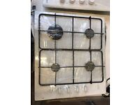 MOFFAT built in gas hob white in good condition & fully working order