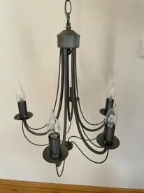 Five light chandelier ceiling light unit