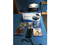PLAYSTATION VR with 5 games and camera plus move controllers
