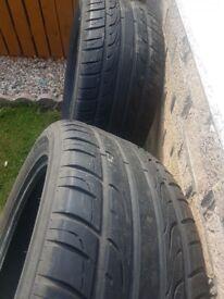 2 Tyres. 285/50/20 part worn. 5mm+ tread left.
