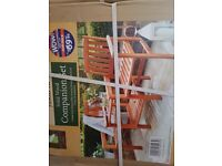 Garden chairs - BRAND NEW solid wood companion set.