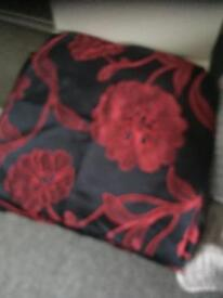 4 red and black cushion covers