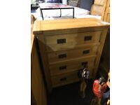 Very solid OAK chest of drawers