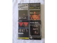 4 pre-recorded rock/progressive rock cassettes - Caravan, Colosseum II, National Health & Wildlife