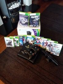 Xbox 360 Kinect and 12 games