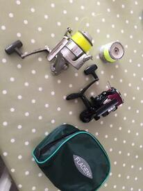 Daiwa Jupiter z 5000 and okuma impact sea fishing reels with line