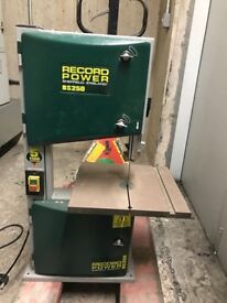 Record Power- Desk Top Band saw- barely used, in good working order.