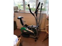 Cross trainer. Compact size. Excellent condition. Digital counter display. Foam handles, adjustable.