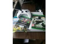 Like NEW xbox one S w/ CoD Infinite Warfare, CoD4 Remastered and Minecraft for xbox and Windows PC