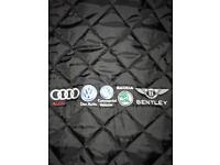 XS (Small) Men's Quilted Black Audi, Bentley, Volkswagen Jacket