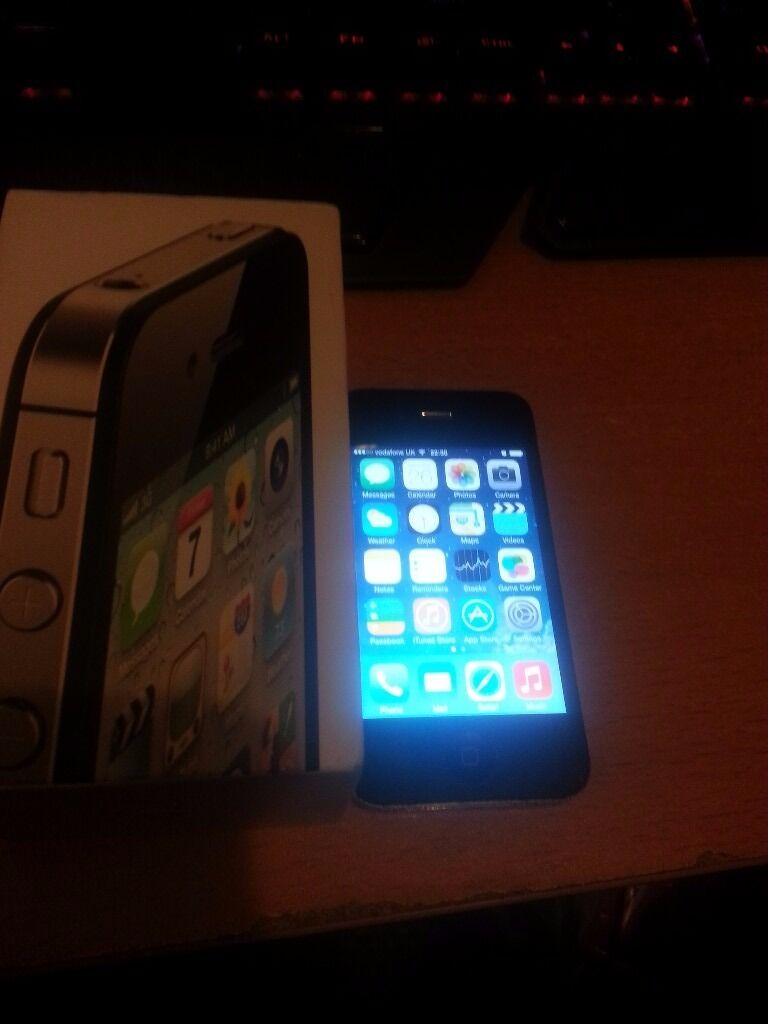 Iphone 4 16GBin Reading, BerkshireGumtree - the phone is very clean hardly any marks fully working comes with box and charger it is 16gb and is locked to Vodafone want to sell it quick thats why I put the BARGAIN! price Any questions please ask i will answer quick