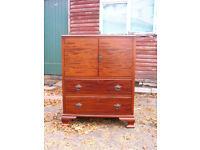 tallboy sideboard TV cupboard media cabinet small wardrobe wooden chest of drawers retro home