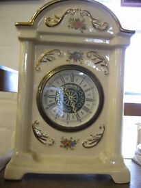 'Vintage Mercedes porcellan ceramic clock with historical paintwork