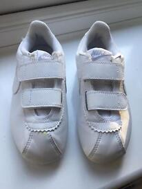Boys Nike White Trainers size 10