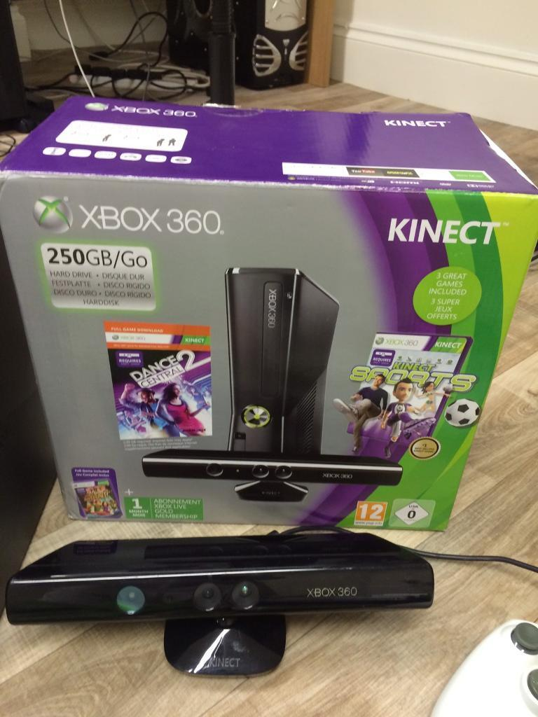 Xbox 360 Kinectin Leicester, LeicestershireGumtree - XBOX 360 KINECT2 CONTROLLERS2 SPARE BATTERY CLIP ONS FOR CONTROLLER KINECT SENSORALL LEADS INCLUDING HDMI, CONTROLLER CHARGING CABLE & POWER LEAD INCLUDEDPLUG AND PLAYSELLING AS UPGRADED TO XBOX ONE. IN FULL WORKING ORDER18 GAMES IN TOTAL CALL OF...