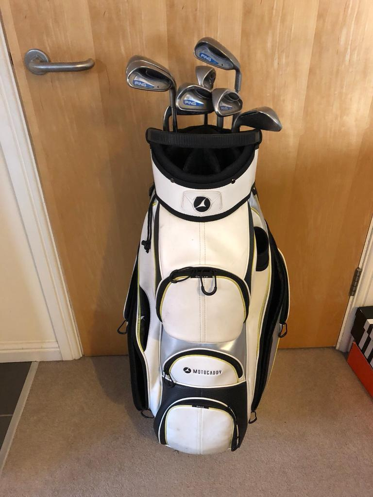 fbb5f017efbd Ping G2 Irons and Motorcaddy golf bag