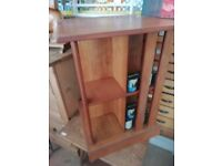 Solid wooden coffee table, display unit in good condition. oak, H 72cm, 51cm x 51cm