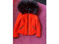 River Island Winter Coat Size 8