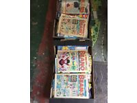 Huge collection of beano comics 1970s -now 2x boxes full