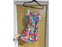 Missguided floral playsuit size 8
