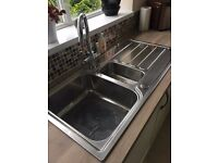 "KITCHEN SINK - ""EDEN"" Stainless steel 1.5 bowl 1000 x 500 BRAND NEW & BOXED Cost £250 from WREN"