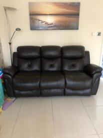 Leather recliner and massage sofas