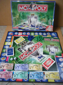 Monopoly,THE F.A PREMIER LEAGUE EDITION 1999/2000 board game. Waddingtons Games. Complete.
