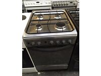 INDESIT free standing full gas cooker 50 cm width stainless steel nice condition fully working order