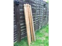 4 mortised fence posts