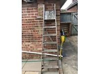 7 tread wooden step ladder for sale