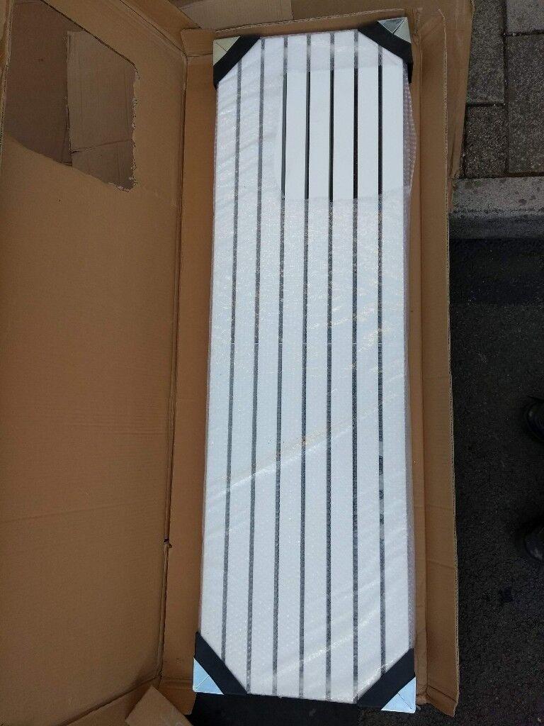 designer radiator. milano capri. vertical flat tube type. 1600 x 472 ...