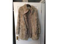 Next fake fur coat size 12