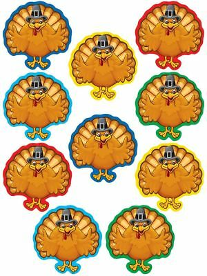 TCR 5278 Mini Turkey Thanksgiving Cut Outs Bulletin Board Classroom Decorations