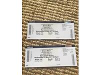 Bruno Mars 24k tour x2 block 115 Row B seats 1&2 Manchester arena 3rd may 07393471927