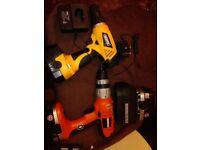 2 x drills batteys n power chords,please see description for details