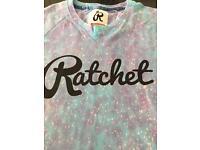 Men's Ratchet Blue lilac t shirt size M
