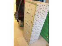 Metal lockable filing cabinet