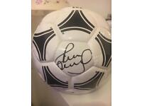 Signed football by Paul Scholes £100