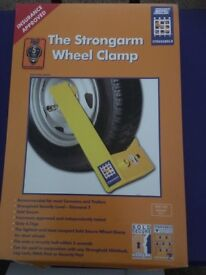 Strongarm Wheel Clamp sold secure, security level Diamond Insurance Approved