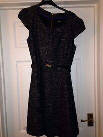 Oasis grey tweed dress s14