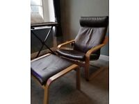 Ikea chair and foot stool