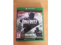 Cod infinite warfare & MW2 remastered legacy edition, Xbox one , as new ! Price stands , no offers !