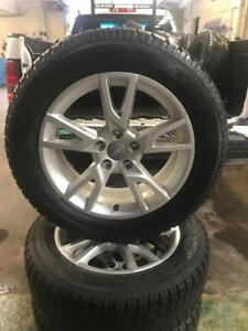 215 60R 17 TOYO OBSERVE GSI-5 WINTER SNOW TIRES ON RIMS OFF 2015 AUDI Q3 10/32 TREAD DEPTH 5X112 BOLT GREAT CONDITION