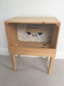 Bedside pine with a picture excellent condition
