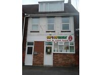 freehold sandwich shop and four bedroom accomodation