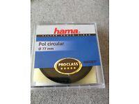 Camera polarising filter - 77mm - mint condition