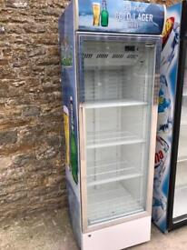 Husky chrome single door display fridge