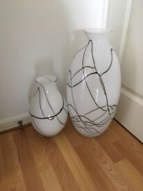2 beautiful vases