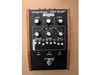 MOOG MF-105M MIDI MuRF - Rare & Discontinued FX Pedal - Multiple Resonance Filter Array + PSU